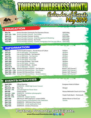 2014 Tourism Awareness Month Activities Page 1 (Click to enlarge)