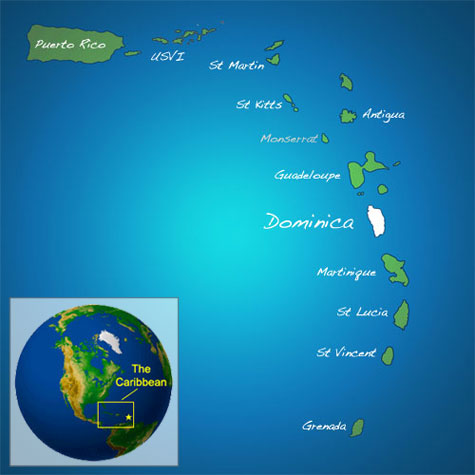 Dominica's Location
