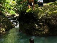 Bathing in one of Dominica's 365 Rivers